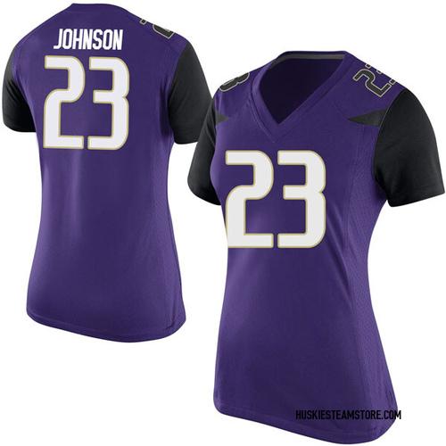 Women's Nike Carlos Johnson Washington Huskies Game Purple Football College Jersey