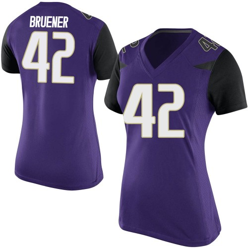 Women's Nike Carson Bruener Washington Huskies Game Purple Football College Jersey