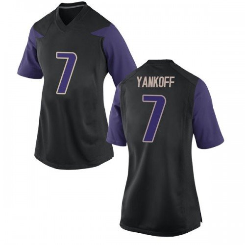 Women's Nike Colson Yankoff Washington Huskies Replica Black Football College Jersey