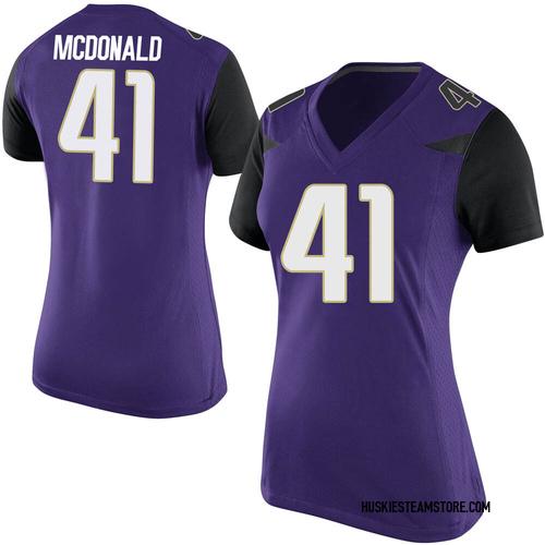 Women's Nike Cooper McDonald Washington Huskies Game Purple Football College Jersey