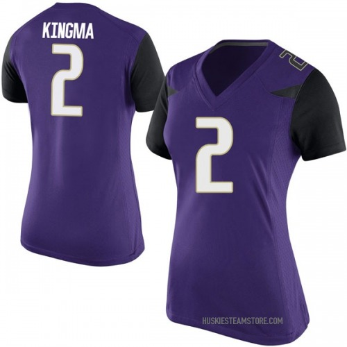 Women's Nike Dan Kingma Washington Huskies Replica Purple Football College Jersey