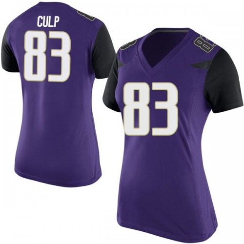 Women's Nike Devin Culp Washington Huskies Game Purple Football College Jersey