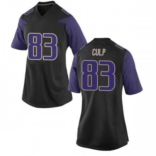 Women's Nike Devin Culp Washington Huskies Replica Black Football College Jersey