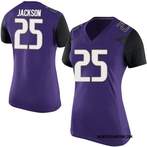 Women's Nike Elijah Jackson Washington Huskies Game Purple Football College Jersey