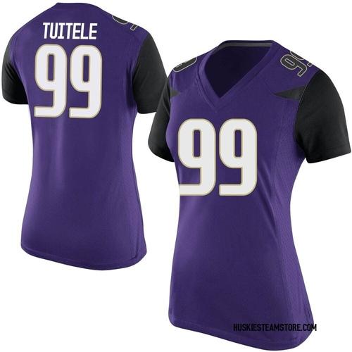 Women's Nike Faatui Tuitele Washington Huskies Replica Purple Football College Jersey