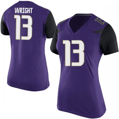 Women's Nike Hameir Wright Washington Huskies Game Purple Football College Jersey