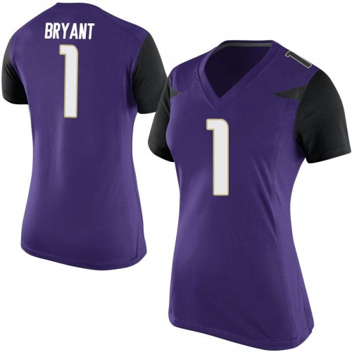 Women's Nike Hunter Bryant Washington Huskies Game Purple Football College Jersey