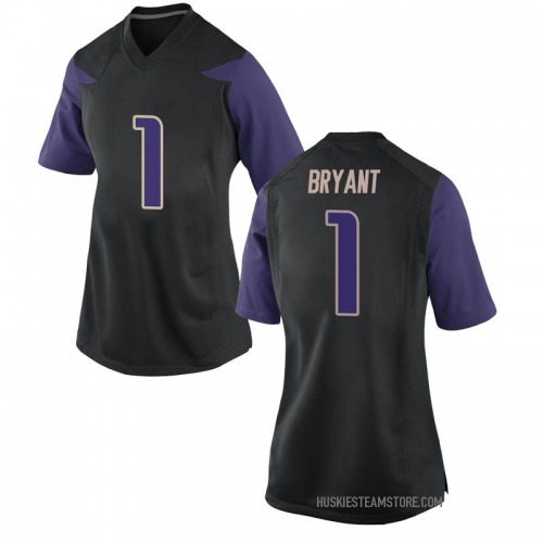 Women's Nike Hunter Bryant Washington Huskies Replica Black Football College Jersey