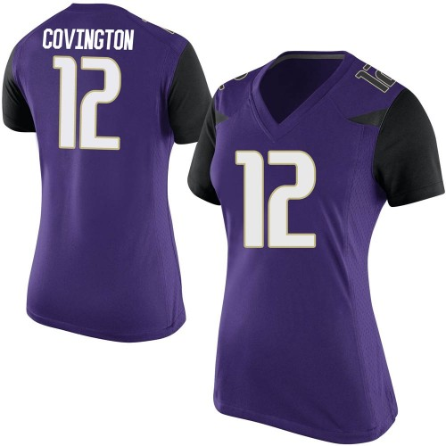 Women's Nike Jacobe Covington Washington Huskies Game Purple Football College Jersey