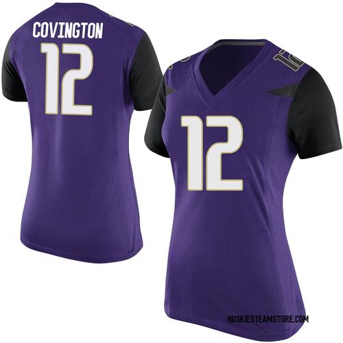 Women's Nike Jacobe Covington Washington Huskies Replica Purple Football College Jersey