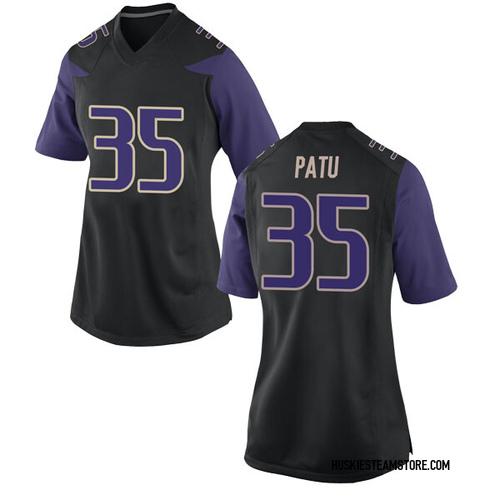Women's Nike Jamyn Patu Washington Huskies Replica Black Football College Jersey