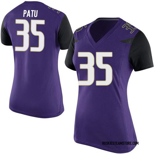 Women's Nike Jamyn Patu Washington Huskies Replica Purple Football College Jersey