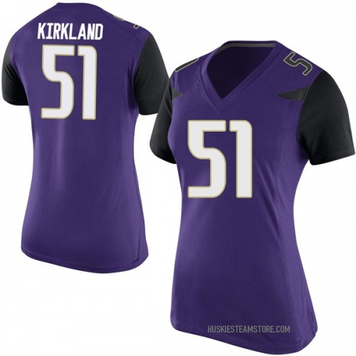 Women's Nike Jaxson Kirkland Washington Huskies Game Purple Football College Jersey