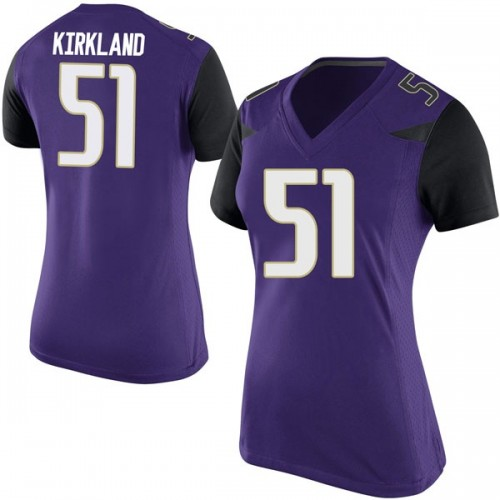 Women's Nike Jaxson Kirkland Washington Huskies Replica Purple Football College Jersey