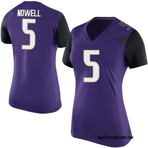 Women's Nike Jaylen Nowell Washington Huskies Game Purple Football College Jersey