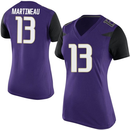 Women's Nike Jesse Martineau Washington Huskies Game Purple Football College Jersey
