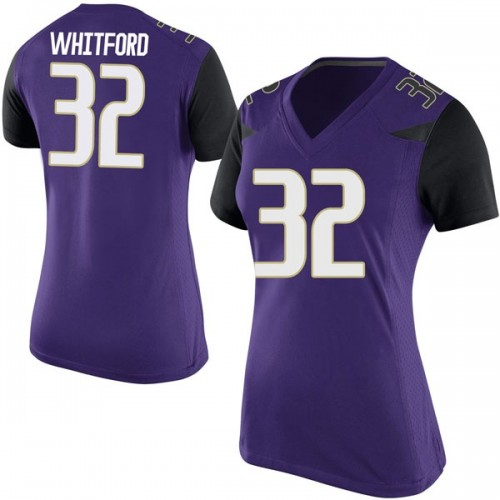 Women's Nike Joel Whitford Washington Huskies Game Purple Football College Jersey