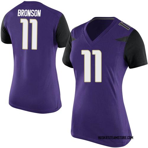 Women's Nike Josiah Hezekiah Bronson Washington Huskies Game Purple Football College Jersey