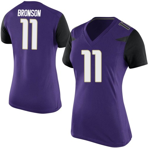 Women's Nike Josiah Hezekiah Bronson Washington Huskies Replica Purple Football College Jersey