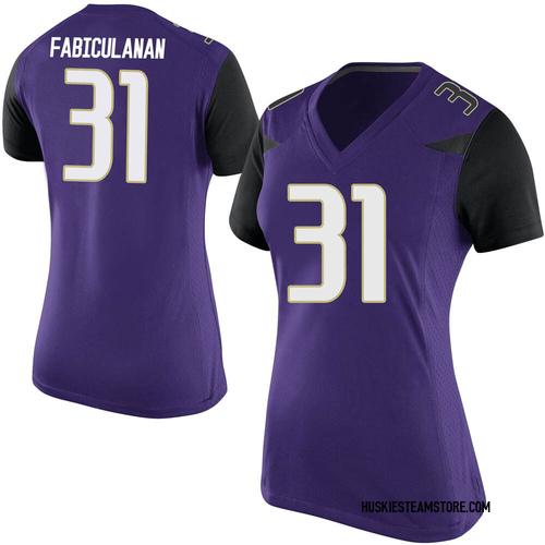 Women's Nike Kamren Fabiculanan Washington Huskies Game Purple Football College Jersey