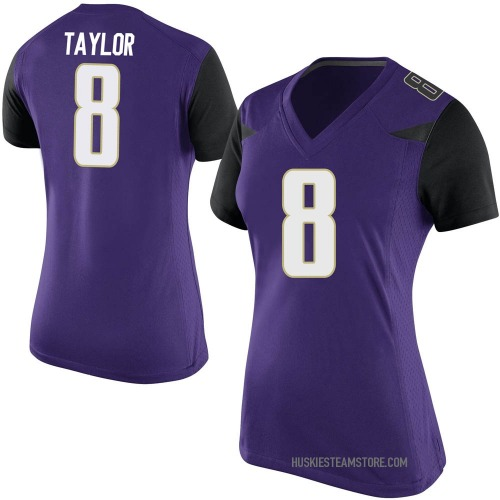 Women's Nike Keith Taylor Washington Huskies Game Purple Football College Jersey