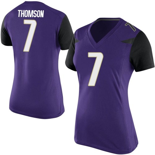 Women's Nike Kevin Thomson Washington Huskies Replica Purple Football College Jersey
