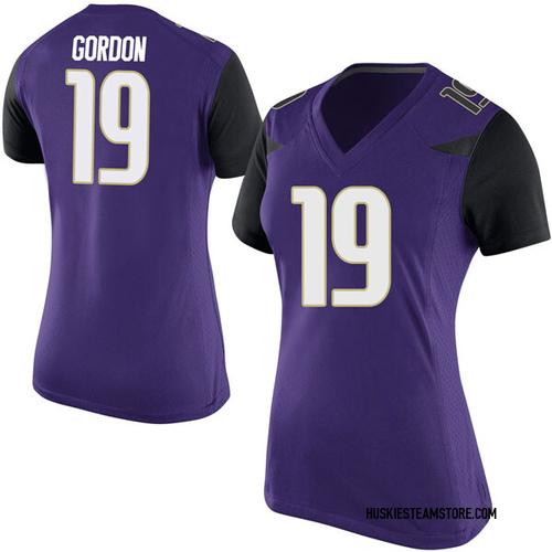 Women's Nike Kyler Gordon Washington Huskies Game Purple Football College Jersey
