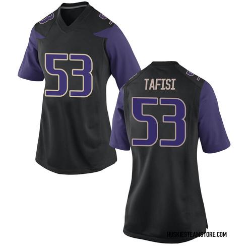 Women's Nike MJ Tafisi Washington Huskies Game Black Football College Jersey
