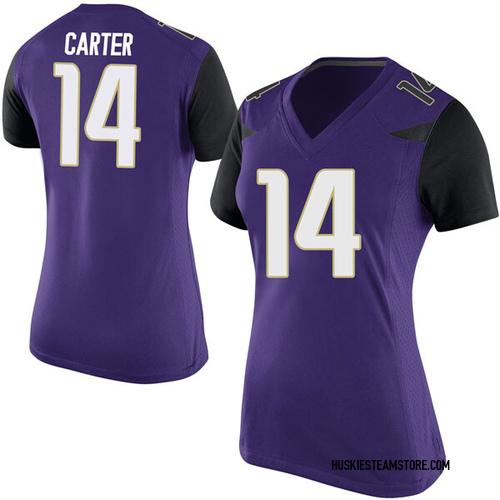 Women's Nike Michael Carter III Washington Huskies Replica Purple Football College Jersey