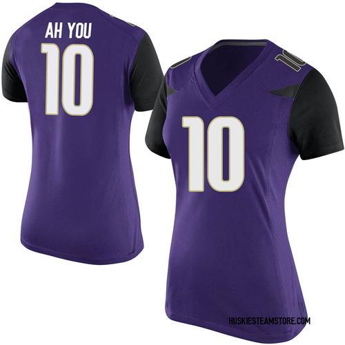 Women's Nike Miki Ah You Washington Huskies Replica Purple Football College Jersey