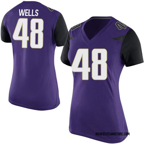 Women's Nike Paul Wells Washington Huskies Replica Purple Football College Jersey