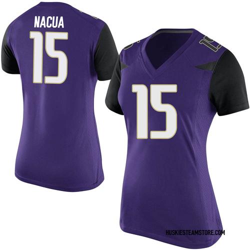 Women's Nike Puka Nacua Washington Huskies Replica Purple Football College Jersey