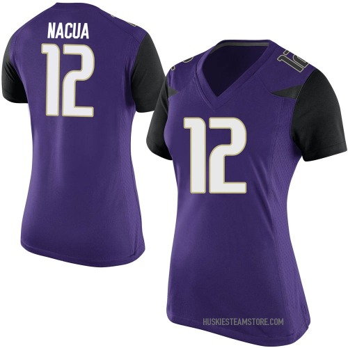 Women's Nike Puka Nacua Washington Huskies Replica Purple Football College Jersey