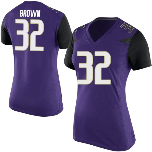 Women's Nike Triston Brown Washington Huskies Replica Purple Football College Jersey