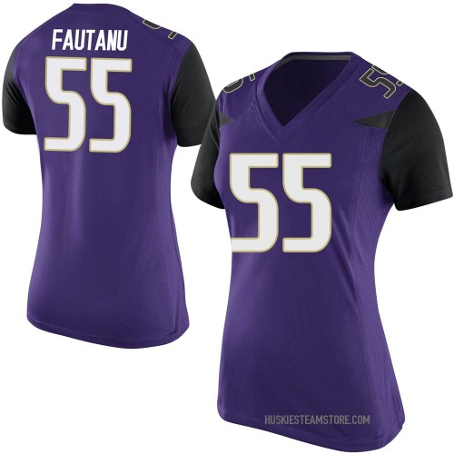 Women's Nike Troy Fautanu Washington Huskies Replica Purple Football College Jersey