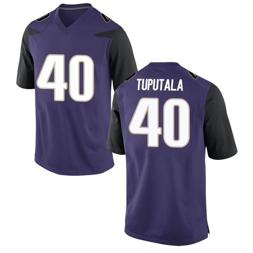 Youth Nike Alphonzo Tuputala Washington Huskies Game Purple Football College Jersey