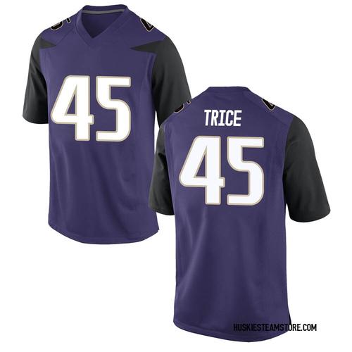Youth Nike Bralen Trice Washington Huskies Game Purple Football College Jersey