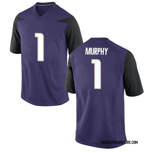 Youth Nike Byron Murphy Washington Huskies Game Purple Football College Jersey