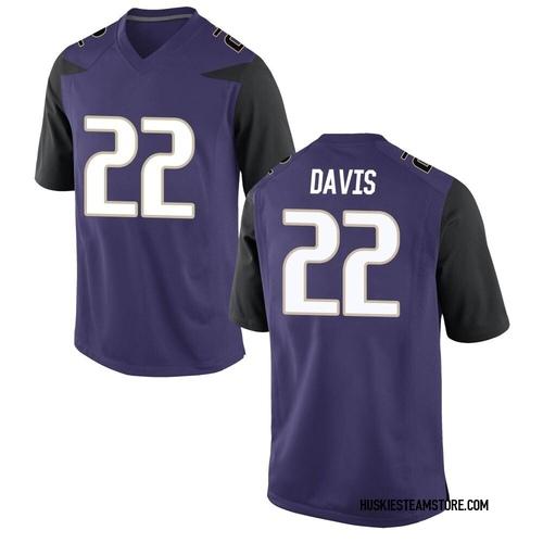 Youth Nike Cameron Davis Washington Huskies Game Purple Football College Jersey