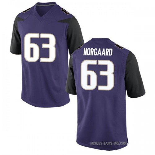 Youth Nike Cole Norgaard Washington Huskies Game Purple Football College Jersey