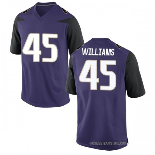 Youth Nike Dylan Williams Washington Huskies Game Purple Football College Jersey