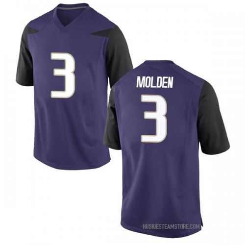 Youth Nike Elijah Molden Washington Huskies Game Purple Football College Jersey