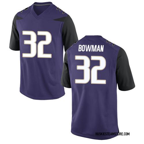 Youth Nike Greg Bowman Washington Huskies Game Purple Football College Jersey