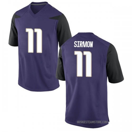 Youth Nike Jacob Sirmon Washington Huskies Game Purple Football College Jersey