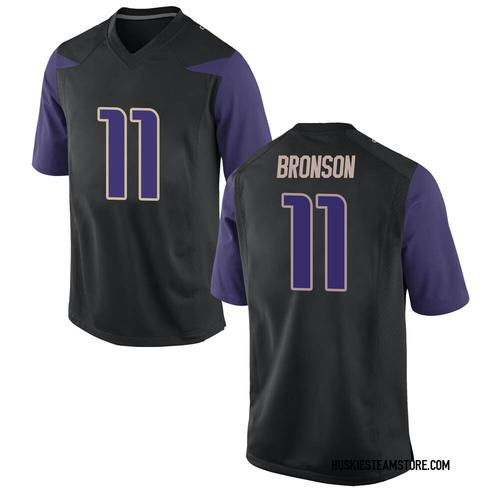 Youth Nike Josiah Hezekiah Bronson Washington Huskies Game Black Football College Jersey