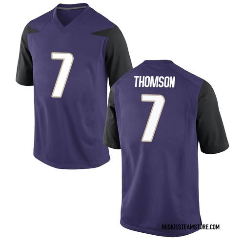 Youth Nike Kevin Thomson Washington Huskies Replica Purple Football College Jersey
