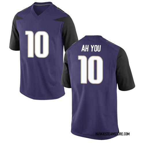Youth Nike Miki Ah You Washington Huskies Replica Purple Football College Jersey