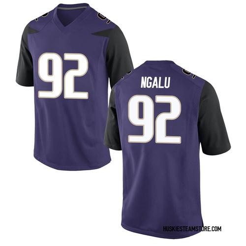 Youth Nike Noa Ngalu Washington Huskies Game Purple Football College Jersey