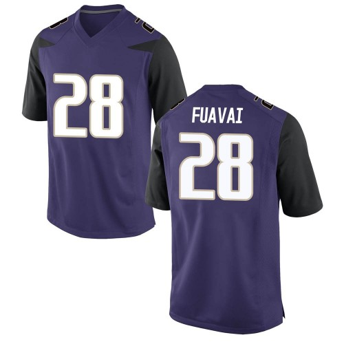 Youth Nike Ruperake Fuavai Washington Huskies Game Purple Football College Jersey