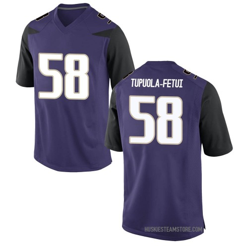 Youth Nike Zion Tupuola-fetui Washington Huskies Game Purple Football College Jersey